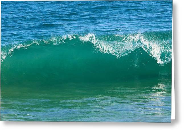 California Beach Pyrography Greeting Cards - Wave Greeting Card by Habib Ayat