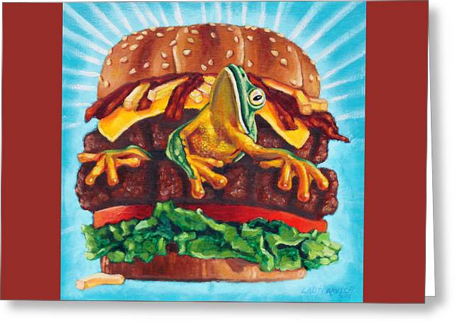 What's In Your Burger? Greeting Card by John Lautermilch