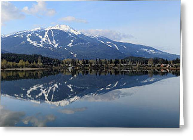 Whistler Greeting Cards - Whistler Blackcomb Green Lake Reflection Greeting Card by Pierre Leclerc Photography