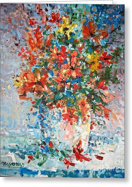 Wildflowers Greeting Card by Micheal Jones