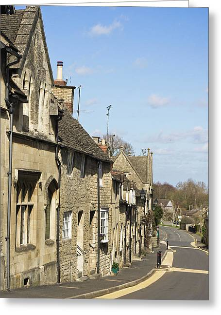 Winchcombe Houses Greeting Card by Tom Gowanlock