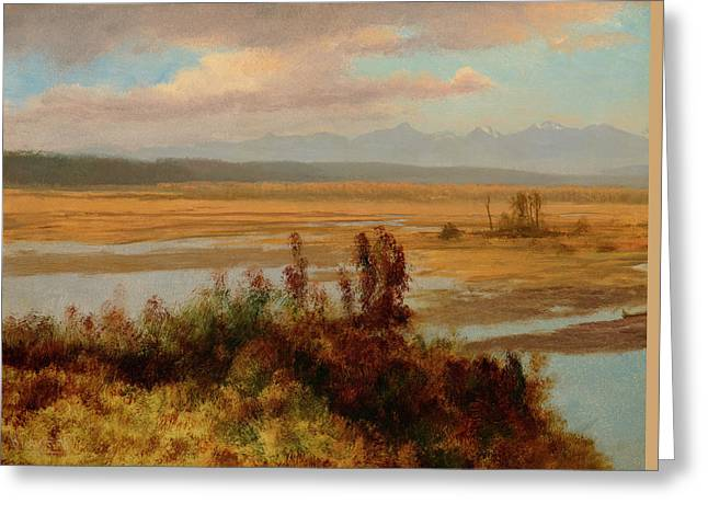 Landscape Painter Greeting Cards - Wind River Country Greeting Card by Albert Bierstadt