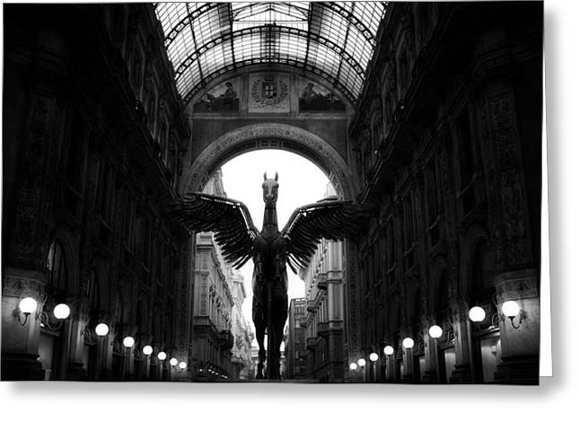 Architecture Sculptures Greeting Cards - Winged Pegasus  Greeting Card by Igor Saveliev
