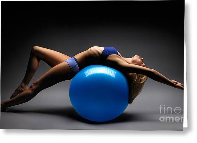 Healthy Sexuality Greeting Cards - Woman on a Ball Greeting Card by Oleksiy Maksymenko