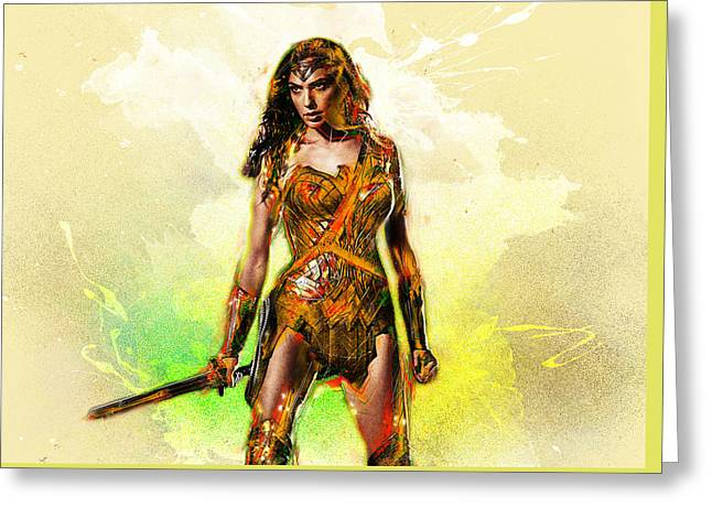 Wonder Woman. Greeting Card by Elena Kosvincheva