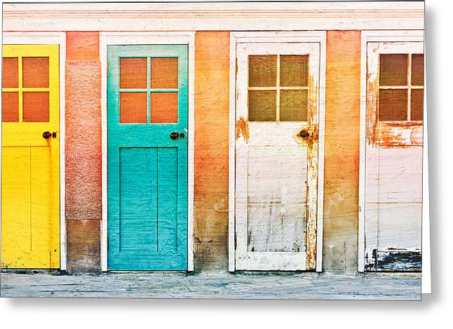 Pairs Greeting Cards - Wooden doors Greeting Card by Tom Gowanlock