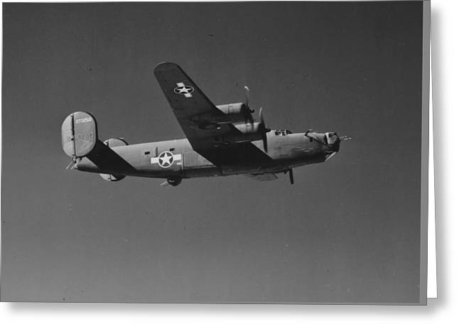 Jet Star Greeting Cards - WWII US Aircraft In Flight Greeting Card by American School