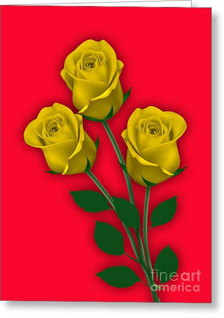 Yellow Roses Collection Greeting Card by Marvin Blaine