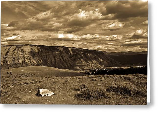 Yellowstone Sky Greeting Card by Patrick  Flynn