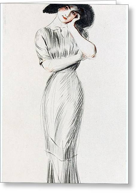 Young Lady Greeting Card by MotionAge Designs