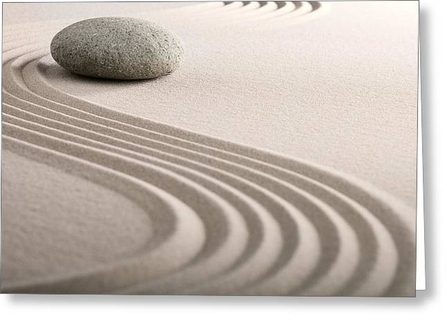 Zen Sand Stone Garden Greeting Card by Dirk Ercken