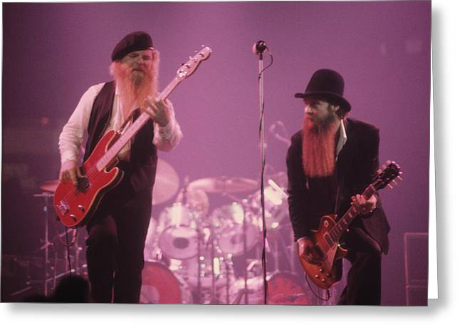Zz Top Greeting Card by Rich Fuscia
