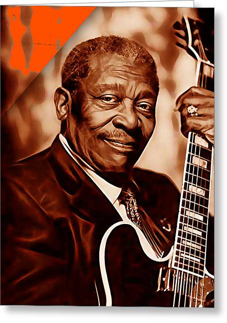 Rock Greeting Cards - BB King Collection Greeting Card by Marvin Blaine