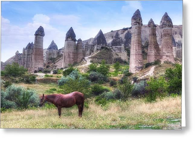 Thunderstorm Greeting Cards - Cappadocia - Turkey Greeting Card by Joana Kruse