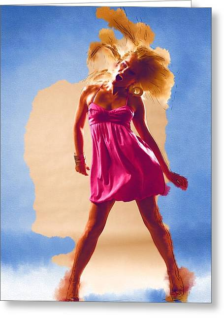 Game Greeting Cards - Dance Floor Greeting Card by Michael Vicin
