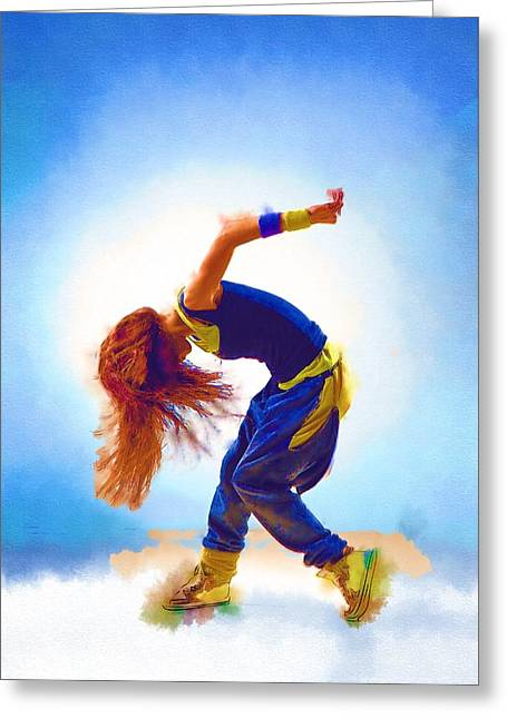 Game Greeting Cards - Dance Hop Greeting Card by Michael Vicin