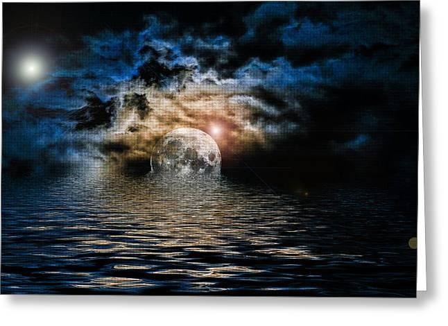 Heavens Waves - Sri Yantra Greeting Card by Sir Josef Social Critic - ART