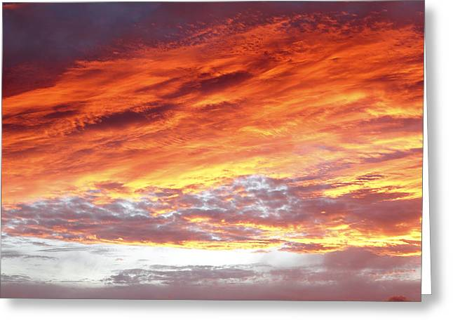 Orange Photos Greeting Cards - Summer sky Greeting Card by Les Cunliffe