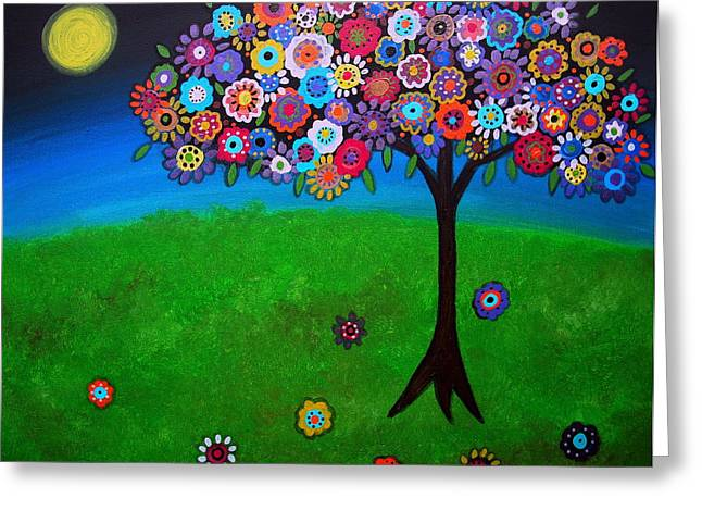Best Sellers -  - Occasion Greeting Cards - Tree Of Life Greeting Card by Pristine Cartera Turkus
