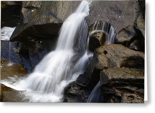 Cascades Greeting Cards - Waterfall Greeting Card by Les Cunliffe