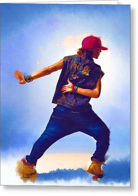 Game Greeting Cards - You Can Dance Greeting Card by Michael Vicin