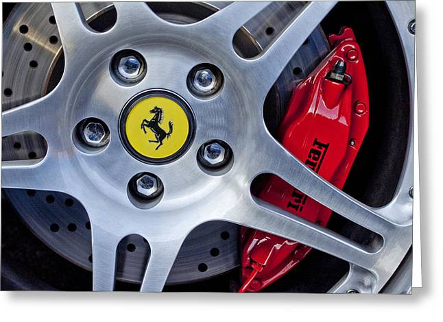 2000 Ferrari Wheel Greeting Card by Jill Reger