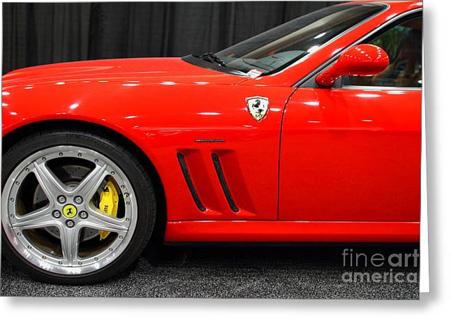 2003 Ferrari 575M . 7D9389 Greeting Card by Wingsdomain Art and Photography