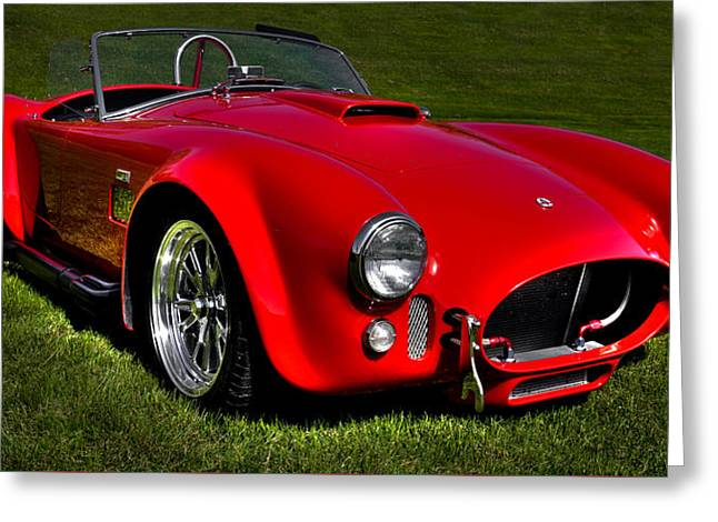 Red Street Rod Greeting Cards - 2003 Shelby Cobra Superformance MKIII Greeting Card by David Patterson