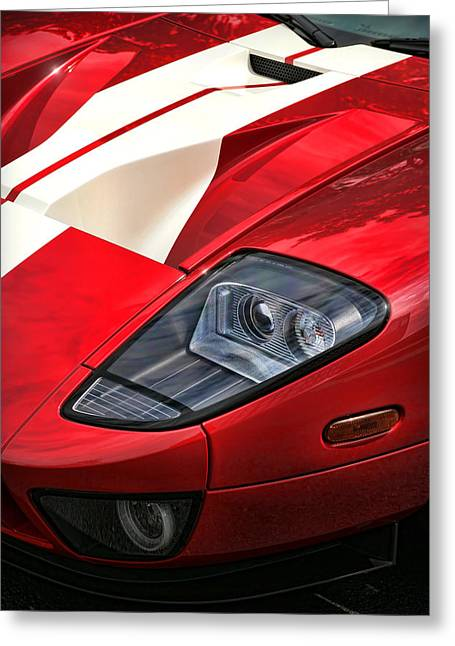 Drag-race Greeting Cards - 2004 Ford GT Greeting Card by Gordon Dean II