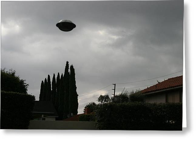 Unidentified Greeting Cards - 2004 Real Ufo Evidence Greeting Card by Michael Ledray
