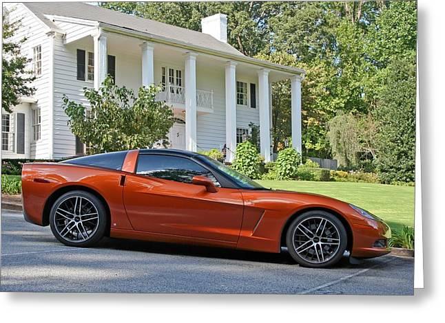 2005 Corvette C6 Greeting Card by John Black