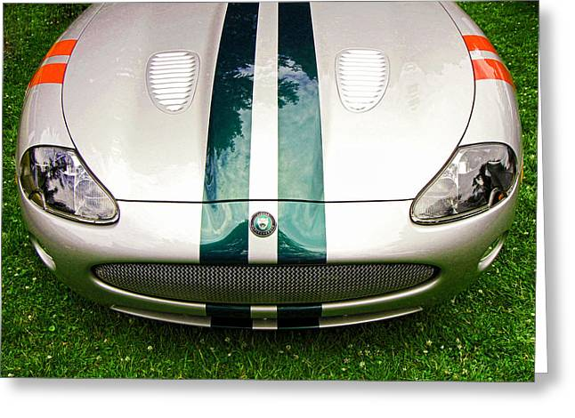 Collector Hood Ornament Greeting Cards - 2005 Jaguar X K R Stirling Moss Signature Edition Greeting Card by Allen Beatty