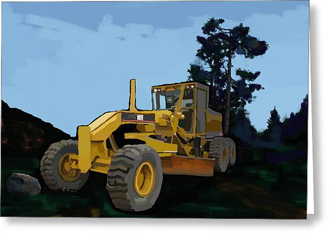 Happy Man Greeting Cards - 2006 Caterpillar 12H VHP Plus Motor Grader Greeting Card by Brad Burns