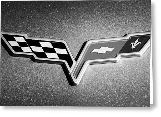 2007 Chevrolet Corvette Indy Pace Car -0301bw Greeting Card by Jill Reger