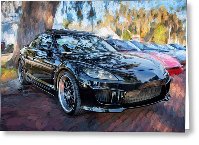 Mazda Greeting Cards - 2008 Mazda RX8 Painted  Greeting Card by Rich Franco