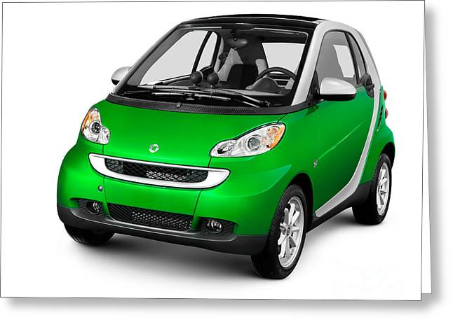 Single Seater Greeting Cards - 2008 Smart Fortwo City Car Greeting Card by Oleksiy Maksymenko