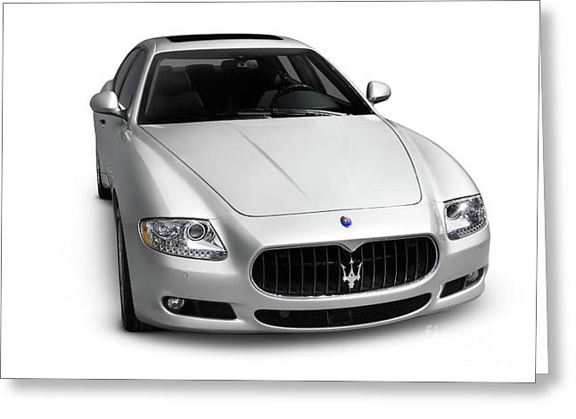 Best Sellers -  - Cut-outs Greeting Cards - 2009 Maserati Quattroporte S Greeting Card by Oleksiy Maksymenko