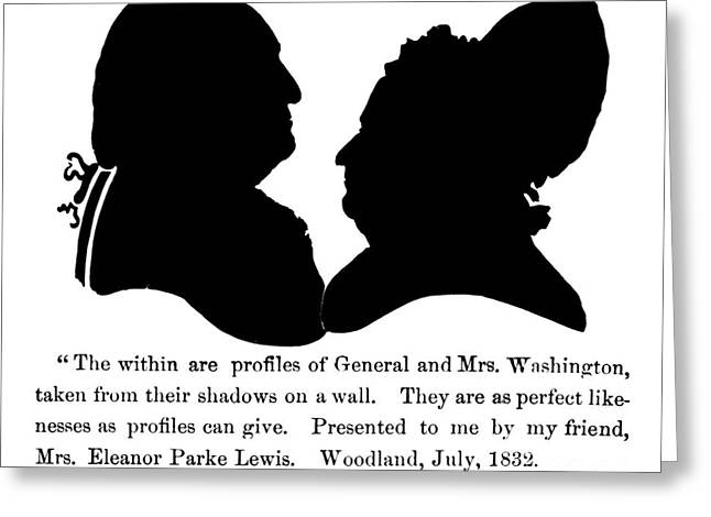 Presidents Wives Greeting Cards - George Washington Greeting Card by Granger