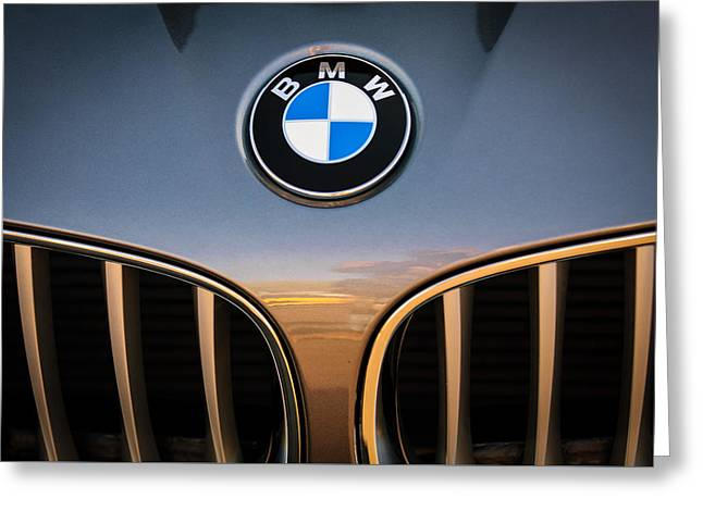 2011 Greeting Cards - 2011 BMW Emblem -0318c Greeting Card by Jill Reger