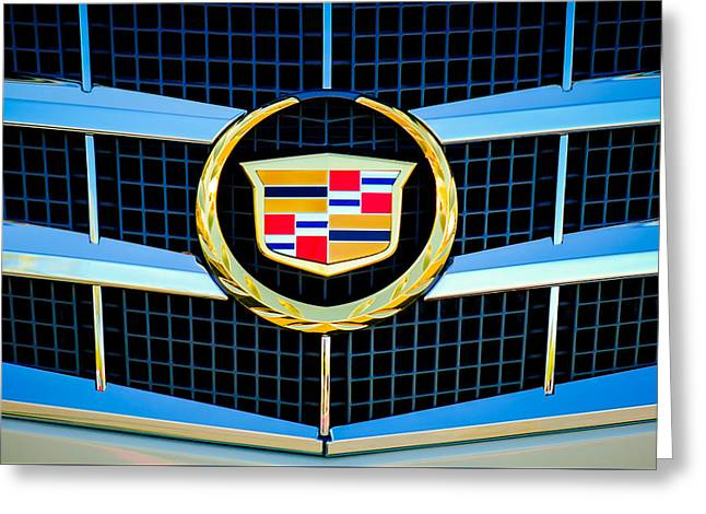 2011 Greeting Cards - 2011 Cadillac CTS Performance Collection Emblem -0584c Greeting Card by Jill Reger