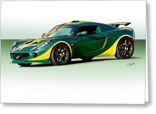 Rally Greeting Cards - 2011 Lotus Elise I Greeting Card by Dave Koontz