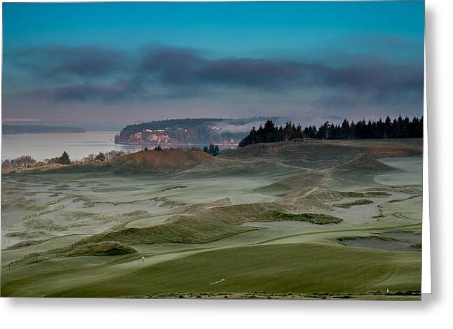 Us Open Photographs Greeting Cards - 2015 US Open - Chambers Bay VI Greeting Card by E Faithe Lester