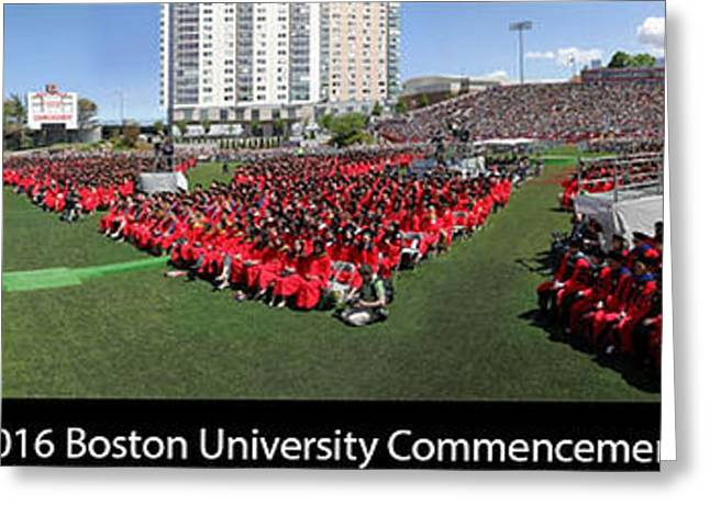 2016 Boston University Commencement Greeting Card by Juergen Roth
