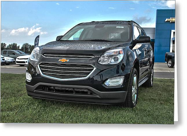 Truck Grill. Fence Greeting Cards - 2016 Chevrolet Equinox-Front Greeting Card by Adam Kushion