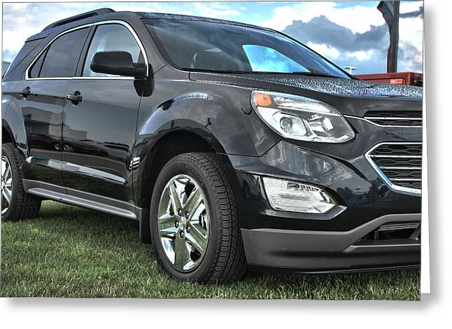 Truck Grill. Fence Greeting Cards - 2016 Chevrolet Equinox-Side Greeting Card by Adam Kushion