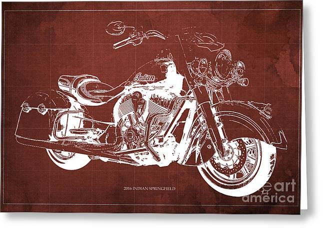 2016 Indian Blueprint Greeting Card by Pablo Franchi