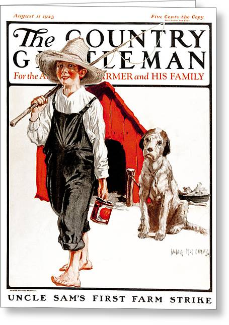 Doghouse Greeting Cards - Cover Of Country Gentleman Agricultural Greeting Card by Remsberg Inc