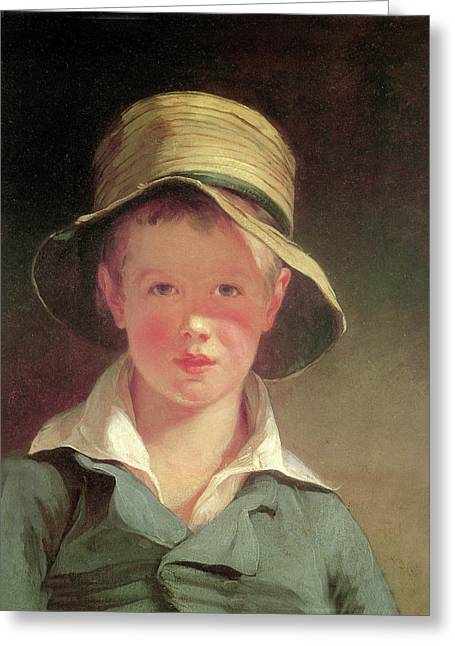 The Torn Hat Greeting Card by Thomas Sully