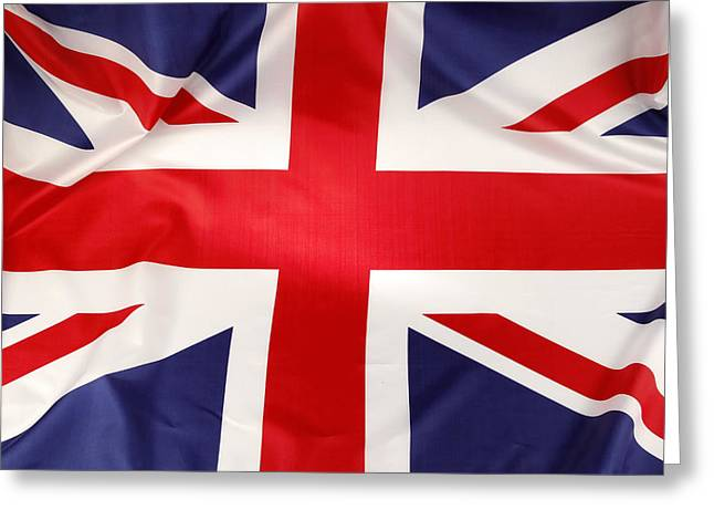 British Photographs Greeting Cards - British flag Greeting Card by Les Cunliffe