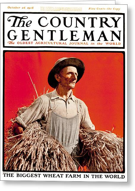 Overalls Greeting Cards - Cover Of Country Gentleman Agricultural Greeting Card by Remsberg Inc